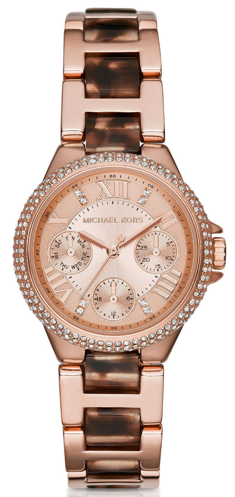 Michael Kors Camille Multifunction Crystals Rose Gold Women s Watch ... fa830d7734